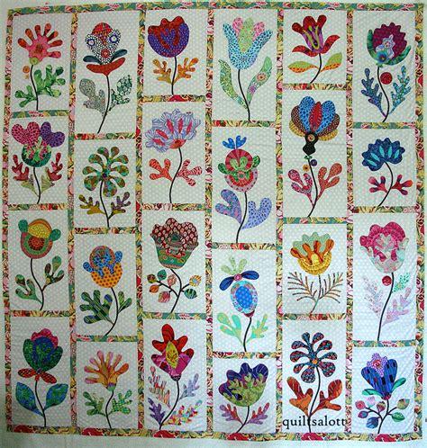 Mclean Quilt Patterns by Glorious Applique Flower Garden Progress