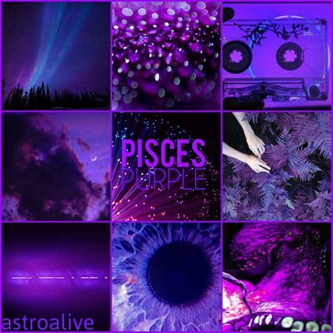 astrology color aesthetic pisces purplenegative symbols