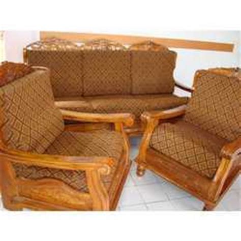 Sofa Covers For Wooden Sofa by Teak Wood Sofa With Cover In Kolkata West Bengal India