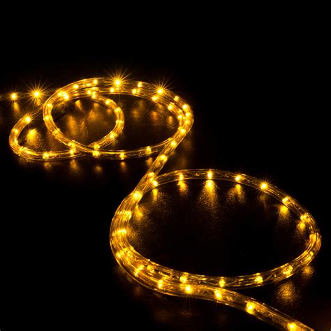 orange saffron yellow led rope light home outdoor