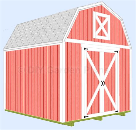 10x10 Garden Shed Plans by 10 X10 Gambrel Shed Plans With Loft