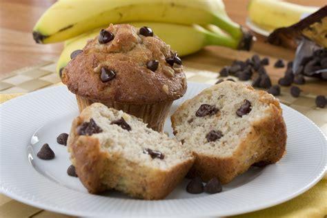 chocolate chip banana muffins   chocolate chip muffin recipe mrfoodcom