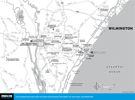 printable road map of wilmington nc popular 259 list wilmington nc map