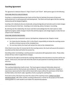 coaching contracts templates 6 coaching contract templates free sle exle