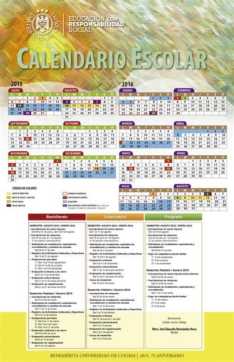 Calendario Escolar Uacj Universidad De Colima Alumnos Calendario Escolar