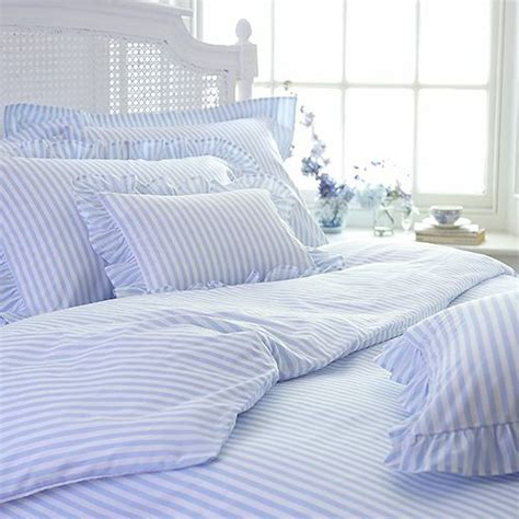 blue and white striped bedding children s blue candy stripe bed linen cologne cotton