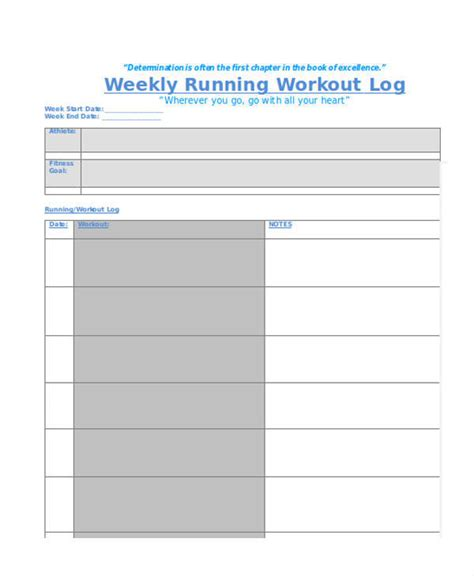 running log template 10 running log templates free sle exle format