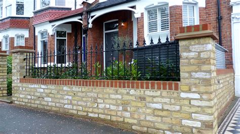 Garden Wall Railings Bespoke Front Garden Bike Store Paving Slate Patio Front