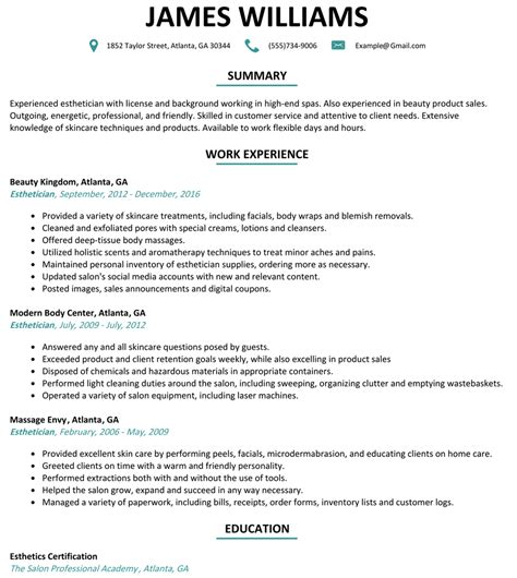 esthetician resume sles mid level practitioner sle
