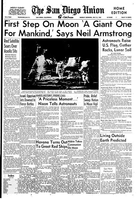 July 21, 1969: Moon landing - The San Diego Union-Tribune