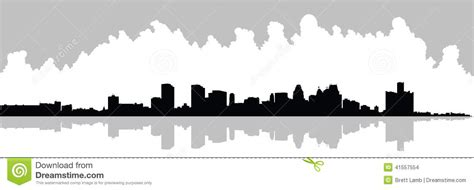 Grand Rapids Skyline Outline by Detroit Skyline Stock Illustration Image Of Skyscraper 41557554