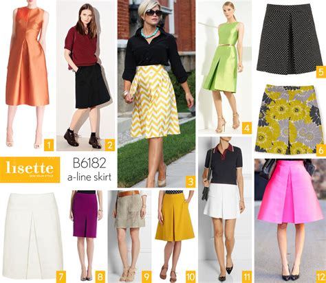 style and fabric inspiration lisette b6182 a line skirt