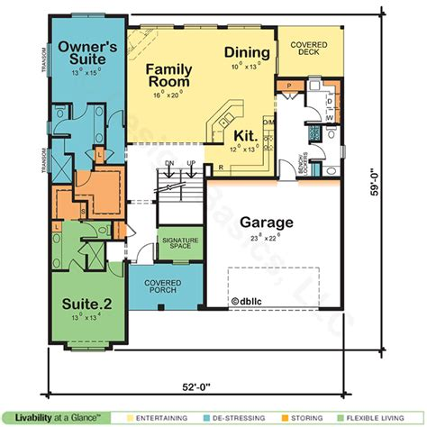 dual master suite floor plans house plans with two owner suites design basics