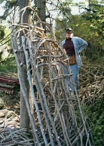 building trellises build a rustic trellis vegetable gardener