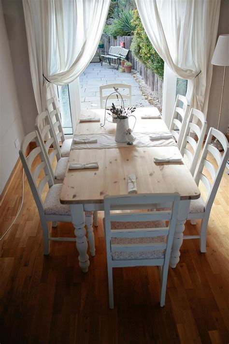 Shabby Chic Dining Room Chairs by White Shabby Chic Dining Table Large And Beautiful