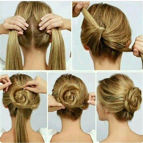 step by step easy updos for thin hair easy hairstyle for long hair step by step photo nail