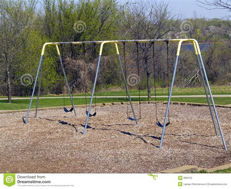 park swing set park swingset stock photo image of activity river trees
