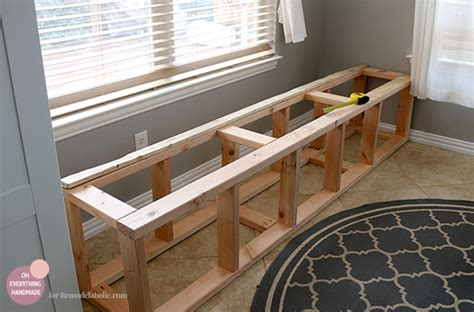 how to build a kitchen nook bench kitchen nook makeover adding a bench