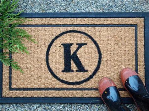 Monogrammed Doormats diy monogrammed doormat hgtv