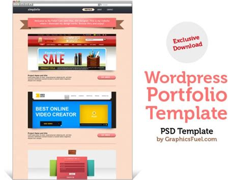 wordpress portfolio psd template psd bestanden gratis