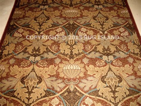 Mission Style Area Rugs 8x11 William Morris Arts Crafts Mission Style Rust Beige Gold Area Rug