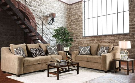 Sullivan Mocha Upholstered Living Room Set Sm6132 Sf Upholstered Living Room Sets