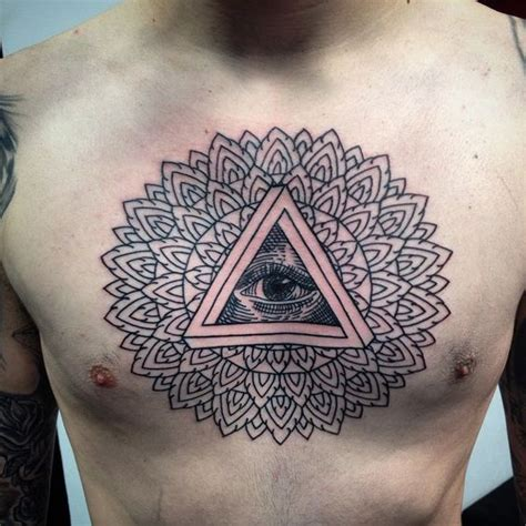 tattoo mandala illuminati sternum tattoo all seeing eye google search pins and