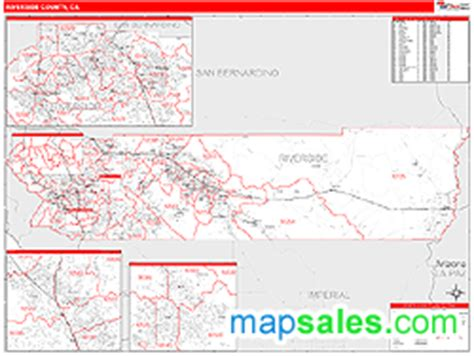 zip code map riverside county riverside county ca zip code wall map red line style by