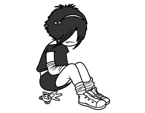 imagenes de emo love para dibujar chica emo para dibujar imagui