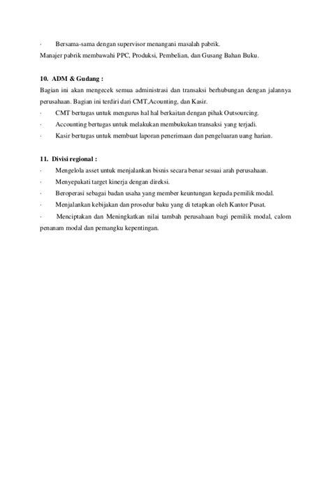 Buku Mengelola Transaksi Bisnis Dengan Accurate Cd struktur organisasi perusahaan
