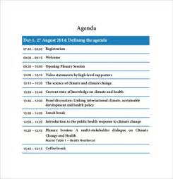 conference meeting agenda template 10 agenda template free sle exle format free