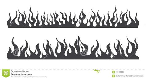 seamless fire flame silhouette stock vector illustration  explosion dangerous