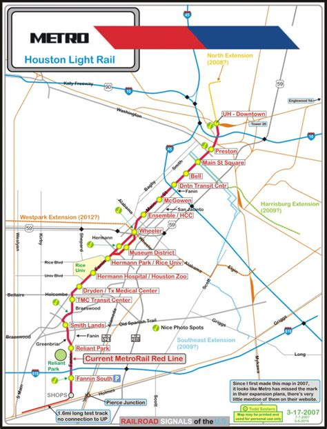 metro light rail houston houston light rail map