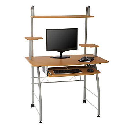 office depot computer desk brenton studio zillope ii computer desk honey maple by