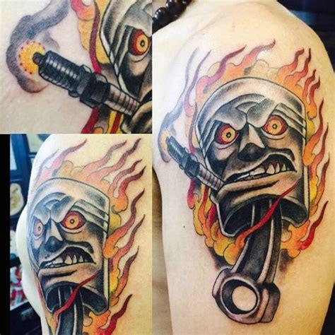 piston tattoos 60 piston designs for unleash high horsepower