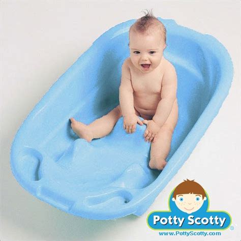bathing baby in bathtub blue baby bath tub by mom innovations potty training