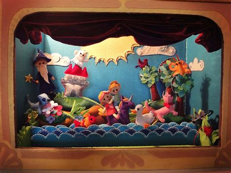 Handmade Puppet Theatre - 17 best images about dioramas popup on