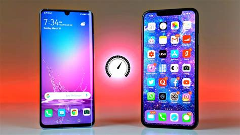 huawei p pro  iphone xs max speed test youtube