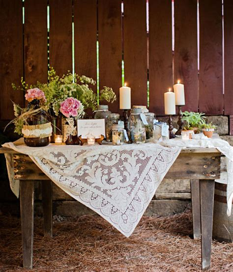 country wedding table decoration ideas photograph country