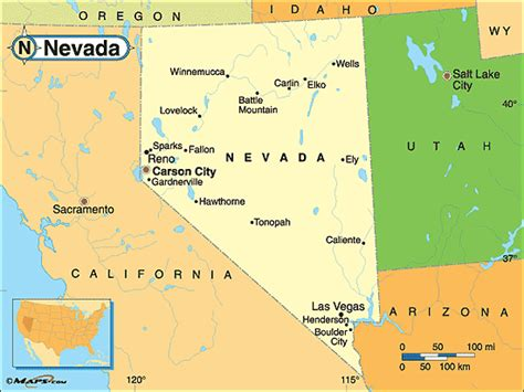 map of nevada state printable