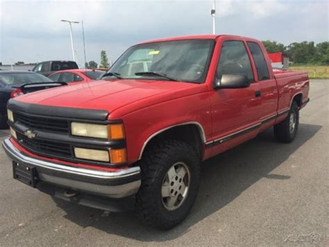 how do cars engines work 1995 chevrolet 1500 electronic valve timing used 95 chevrolet silverado 1500 5 7l 4x4 pickup work truck red cloth no reserve