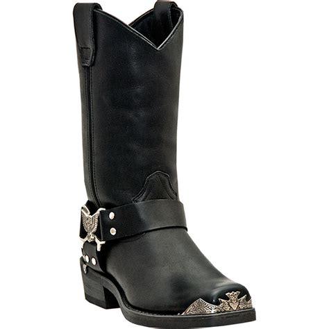 mens black leather cowboy boots dingo mens black leather chopper 12 quot harness snoot toe