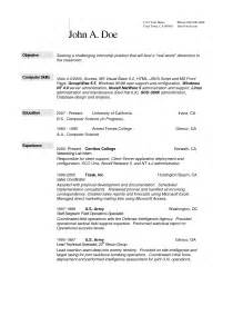 Sle Resume For Computer Science Student by Resume Format For Master Of Science Bestsellerbookdb