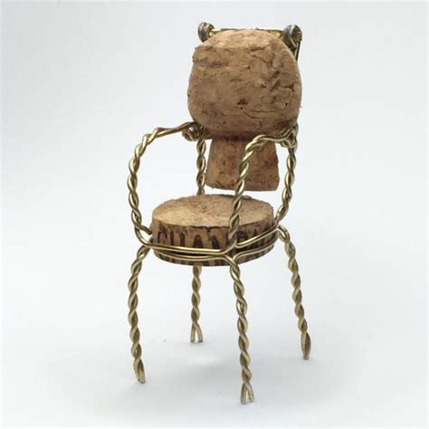upcycled furniture cork chairs made from upcycled chagne corks with dwr upcyclist