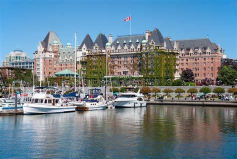 boat cruise victoria bc the empress hotel victoria canada editorial image