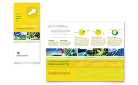 publisher brochure template environmental conservation tri fold brochure template