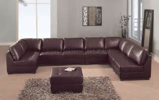 Sectionals Sofas Brown Leather Sectional Sofas Plushemisphere