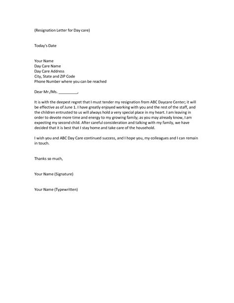 Closing Daycare Letter To Parents best photos of day care rate increase acceptance letter