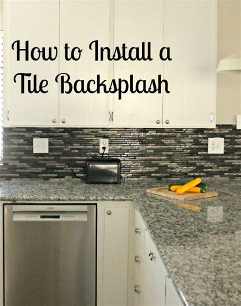 How To Install A Mosaic Tile Backsplash In The Kitchen How To Install A Tile Backsplash With Tutorial
