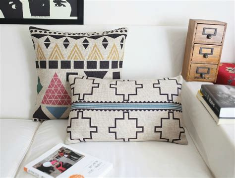 the linen store and home decor aliexpress buy american bohemian pillow geometric cushion linen pillow cushion home